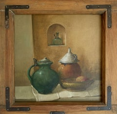 Still life - XX Century, Contemporary Oil Painting, Muted Colors