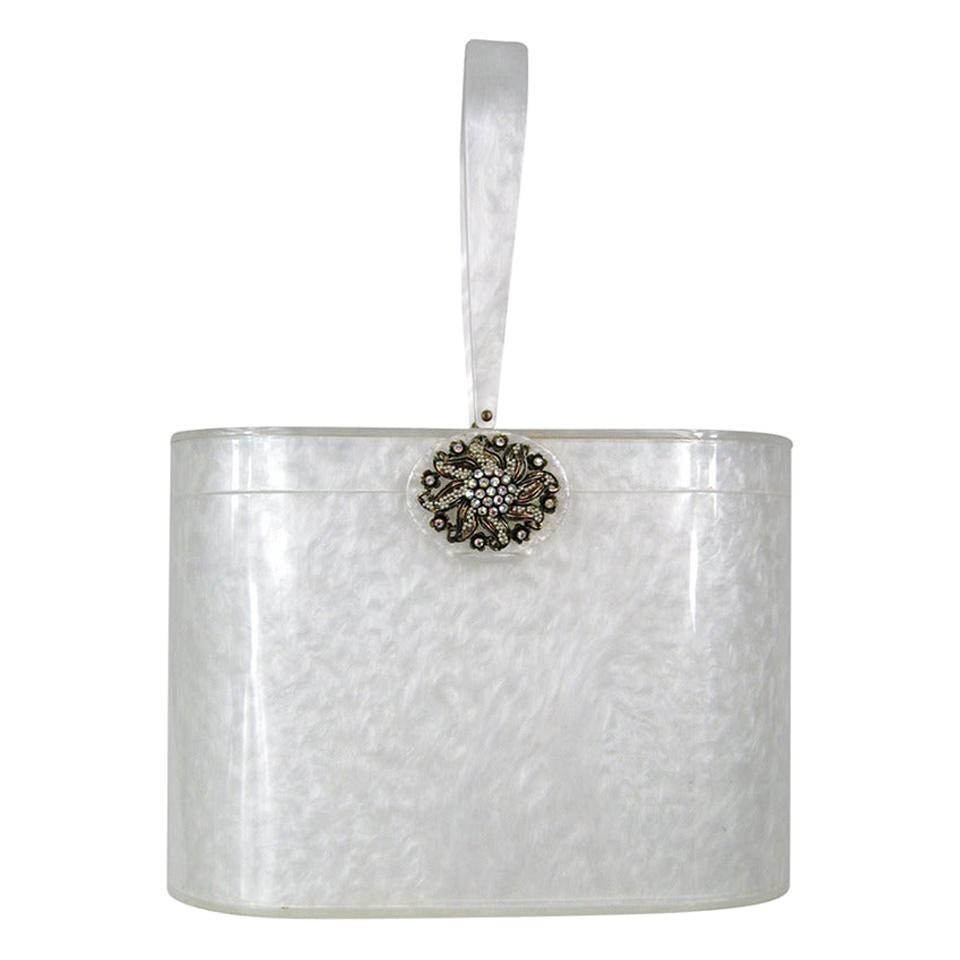 Wilardy Dooner Book piece White Marble Lucite bag