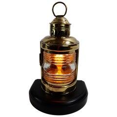 Wilcox Crittendon Brass Boat Lantern