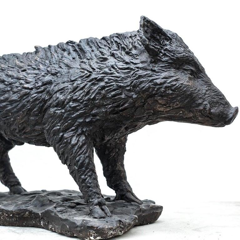 Modern Wild Boar Sculpture For Sale