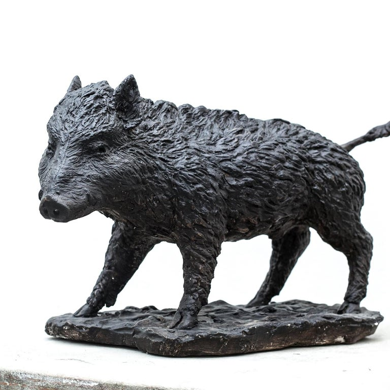 Italian Wild Boar Sculpture For Sale