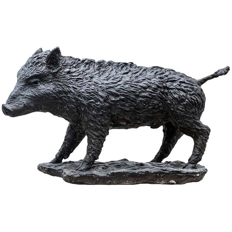 Wild Boar Sculpture For Sale
