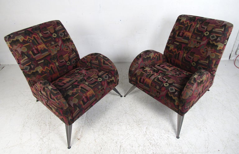 Mid-Century Modern Wild Contemporary Italian Modern Lounge Chairs For Sale
