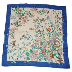 """Wild Flowers, Butterflies & Spiders"" Silk Scarf"
