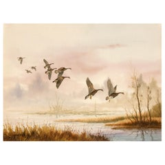 Wild Geese Painting by Sporting Artist Gerald Pettit