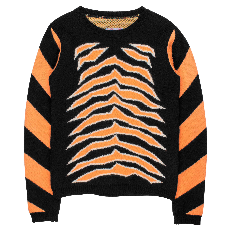Wild & Lethal Trash AW1995 Intarsia Tiger Sweater