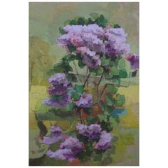 """Wild Lilac"" Contemporary Still Life Oil Painting"