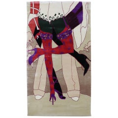 Wild Passionate Modern Silk Rug