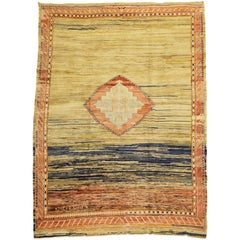 Wild Quirky Room Size Turkish Rug, Mid-20th Century