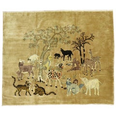 Wild Safari Pictorial Chinese Rug