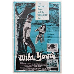 """Wild Youth"" 1960 Original Movie Poster"