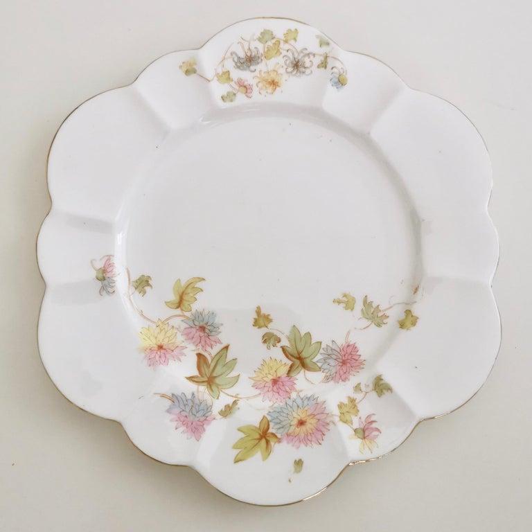 Wileman Porcelain Tea Set, Chrysanthemum, Pastel Colors, Art Nouveau, 1896 For Sale 4
