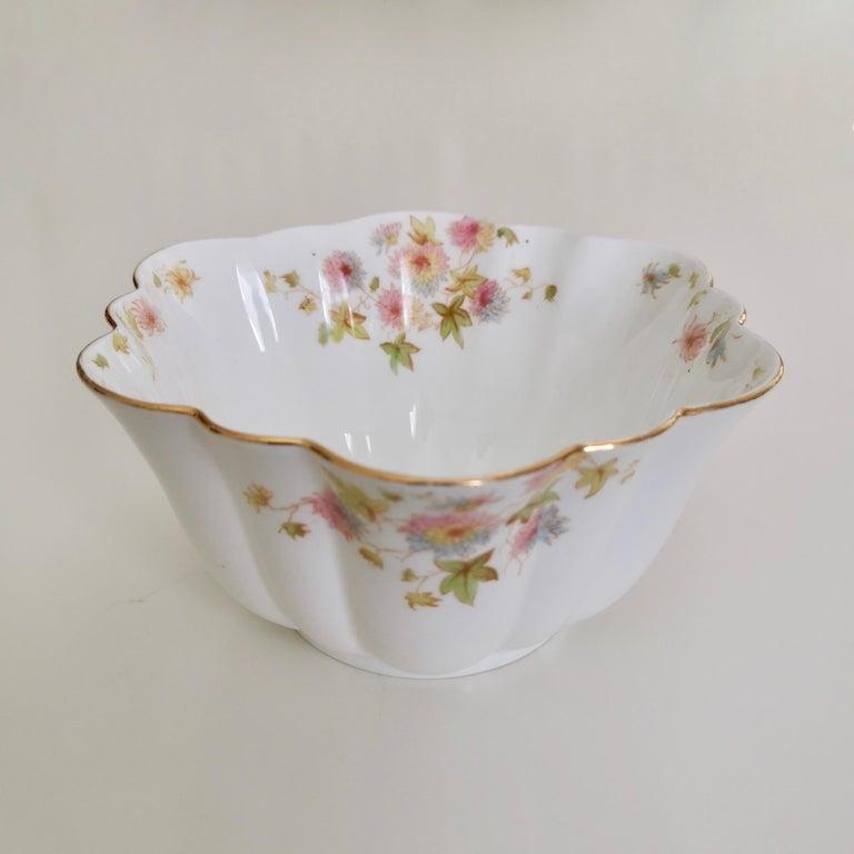 Wileman Porcelain Tea Set, Chrysanthemum, Pastel Colors, Art Nouveau, 1896 For Sale 5