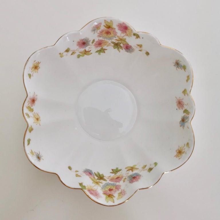 Wileman Porcelain Tea Set, Chrysanthemum, Pastel Colors, Art Nouveau, 1896 For Sale 6