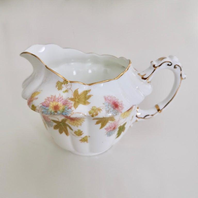 Wileman Porcelain Tea Set, Chrysanthemum, Pastel Colors, Art Nouveau, 1896 For Sale 7