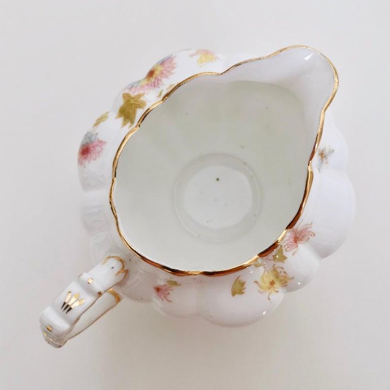 Wileman Porcelain Tea Set, Chrysanthemum, Pastel Colors, Art Nouveau, 1896 For Sale 8