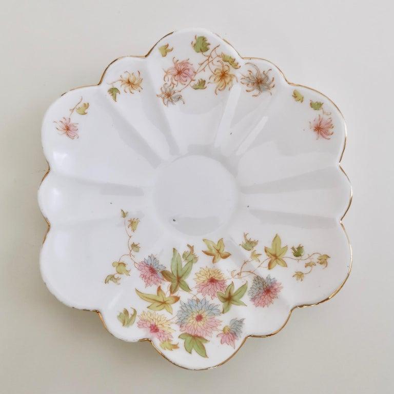 Wileman Porcelain Tea Set, Chrysanthemum, Pastel Colors, Art Nouveau, 1896 For Sale 3