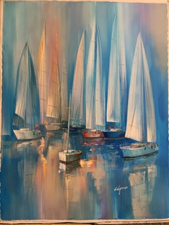 Boats - landscape painting