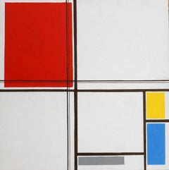 2nd Study No. 5 of Composition A (After Mondrian)