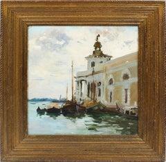 Antique American Impressionist Venice Italy Signed Original Rare Oil Painting
