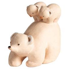 Wilfrid Prost for Primavera, Ceramic Sculpture of a Bear, France, circa 1940