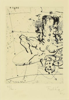 Composition - Original Etching by Freddie - 1961