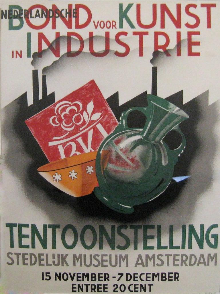 Wilhelm H. Gispen Still-Life Print - Nederlandsche/Bond voor Kunst in Industrie/Tentoonstelling/  Stedelijk Museum Am
