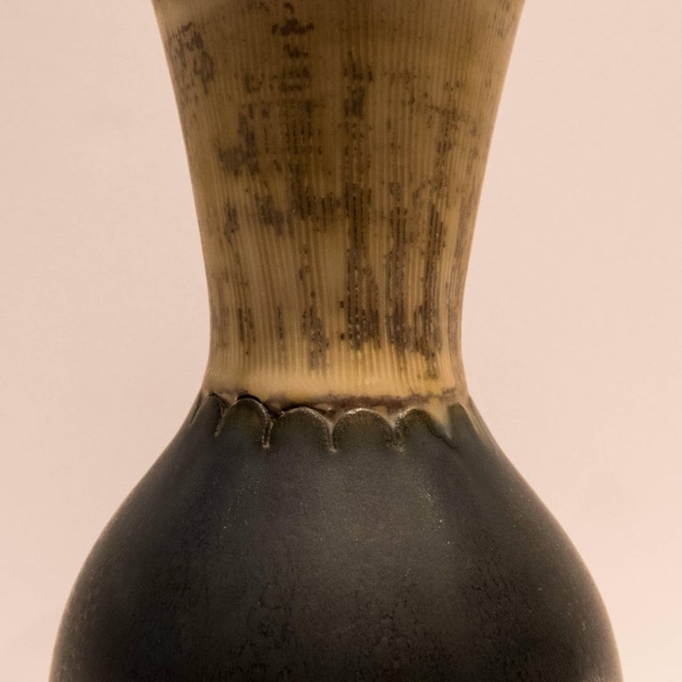 Glazed Wilhelm Kage Farsta Vase For Sale