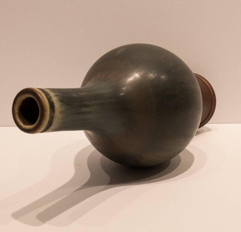 Scandinavian Modern Wilhelm Kage Farsta Vase with Long Neck For Sale