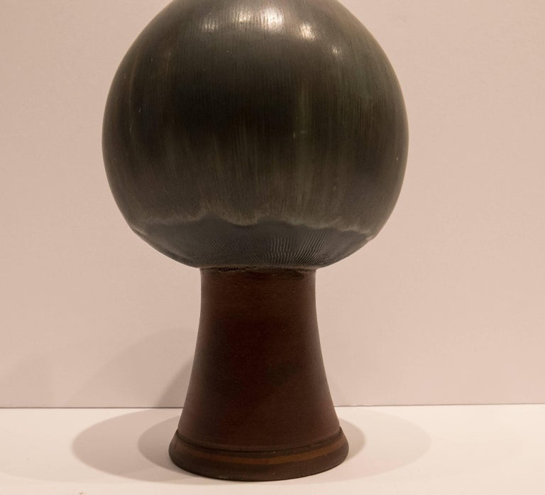 Wilhelm Kage Farsta Vase with Long Neck In Excellent Condition For Sale In New York, NY