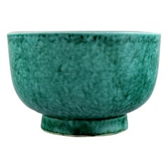 Wilhelm Kåge for Gustavsberg, Argenta Art Deco Bowl in Glazed Ceramics