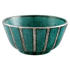Wilhelm Kåge for Gustavsberg, Argenta Bowl in Glazed Ceramics