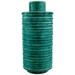 Wilhelm Kåge for Gustavsberg, Rare Cylindrical Argenta Art Deco Vase