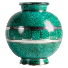 Wilhelm Kåge for Gustavsberg, 'The Argenta Series,' Vase, Sweden, circa 1930s