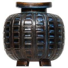 Wilhelm Kåge Vase Model Farsta Produced by Gustavsberg in Sweden