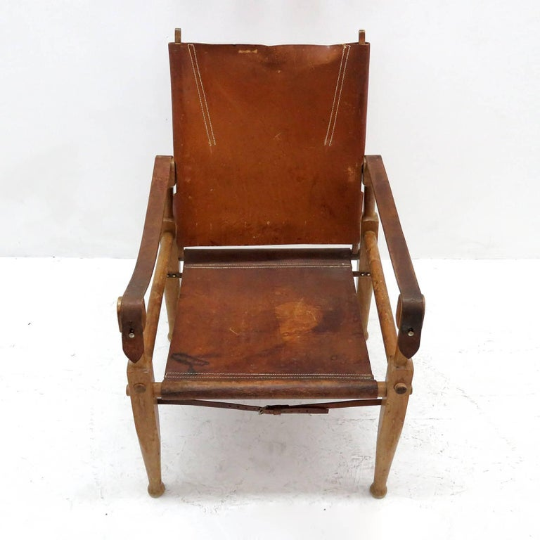 Scandinavian Modern Wilhelm Kienzle Safari Chair, 1950 For Sale