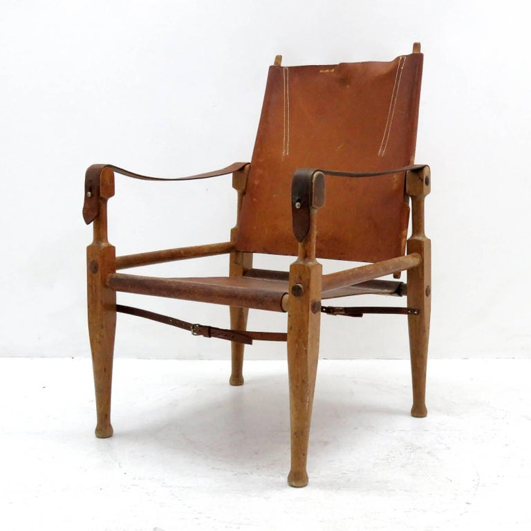 Swiss Wilhelm Kienzle Safari Chair, 1950 For Sale