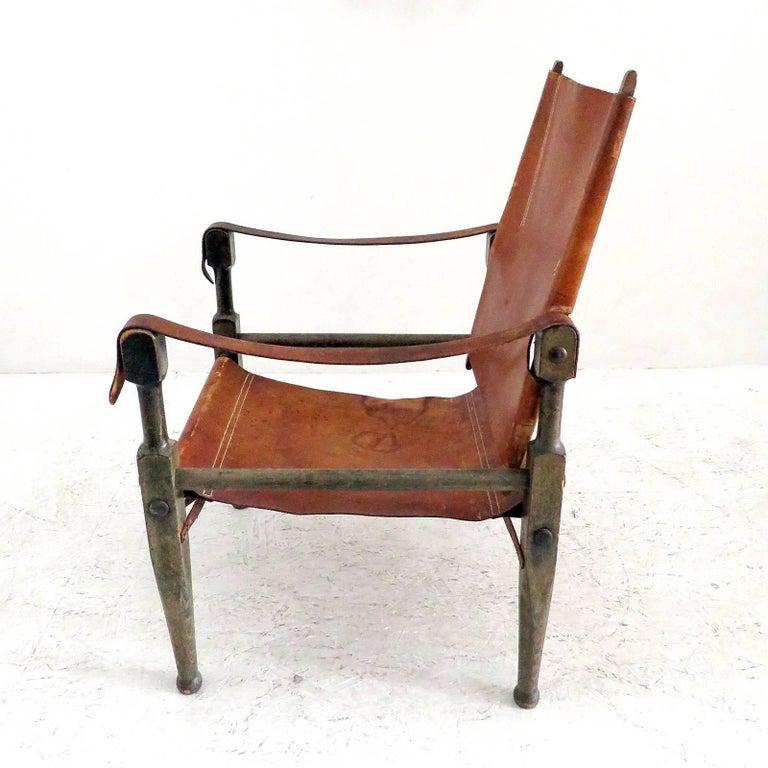 Swiss Wilhelm Kienzle Safari Chair, 1950 For Sale