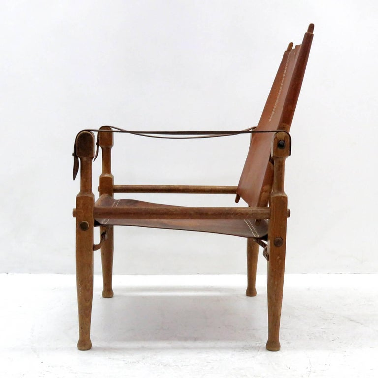 Wilhelm Kienzle Safari Chair, 1950 In Good Condition For Sale In Los Angeles, CA