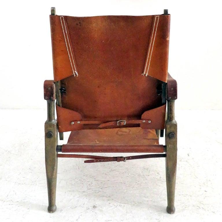 Wilhelm Kienzle Safari Chair, 1950 In Good Condition For Sale In Los Angeles, CA