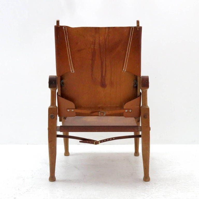 Leather Wilhelm Kienzle Safari Chair, 1950 For Sale