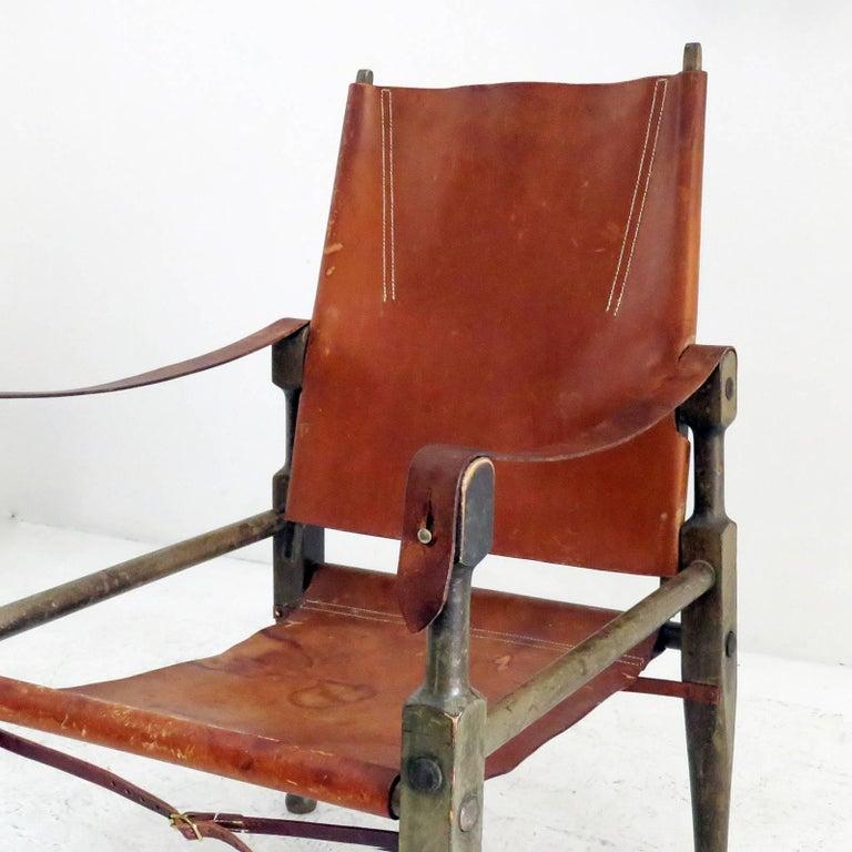 Leather Wilhelm Kienzle Safari Chair, 1950 For Sale