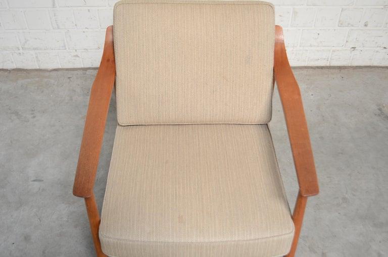 Wilhelm Knoll Antimott Teak Chair Armchair, 1960s 5
