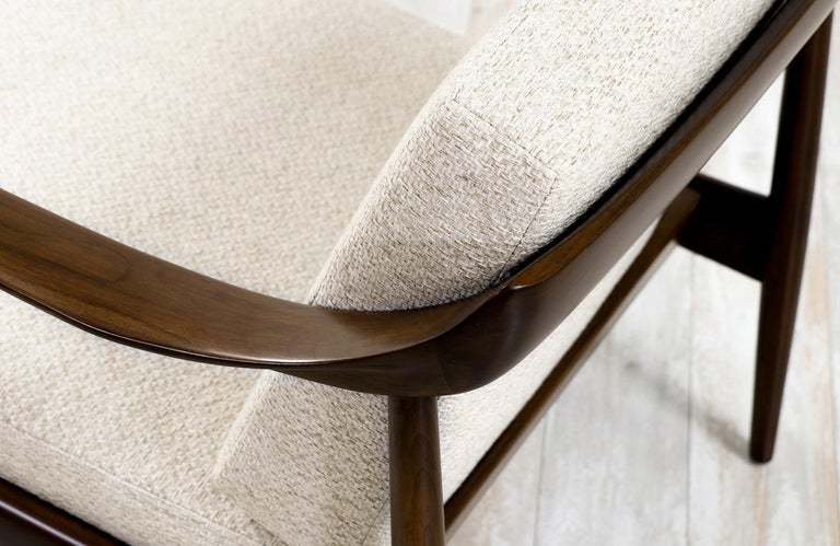 Walnut Wilhelm Knoll Lounge Chairs for Antimott Knoll
