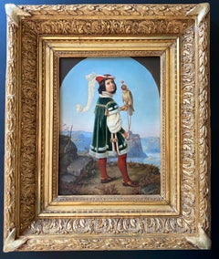 19th century German Nazarene painting - The young prince - Nazarener Von Schadow
