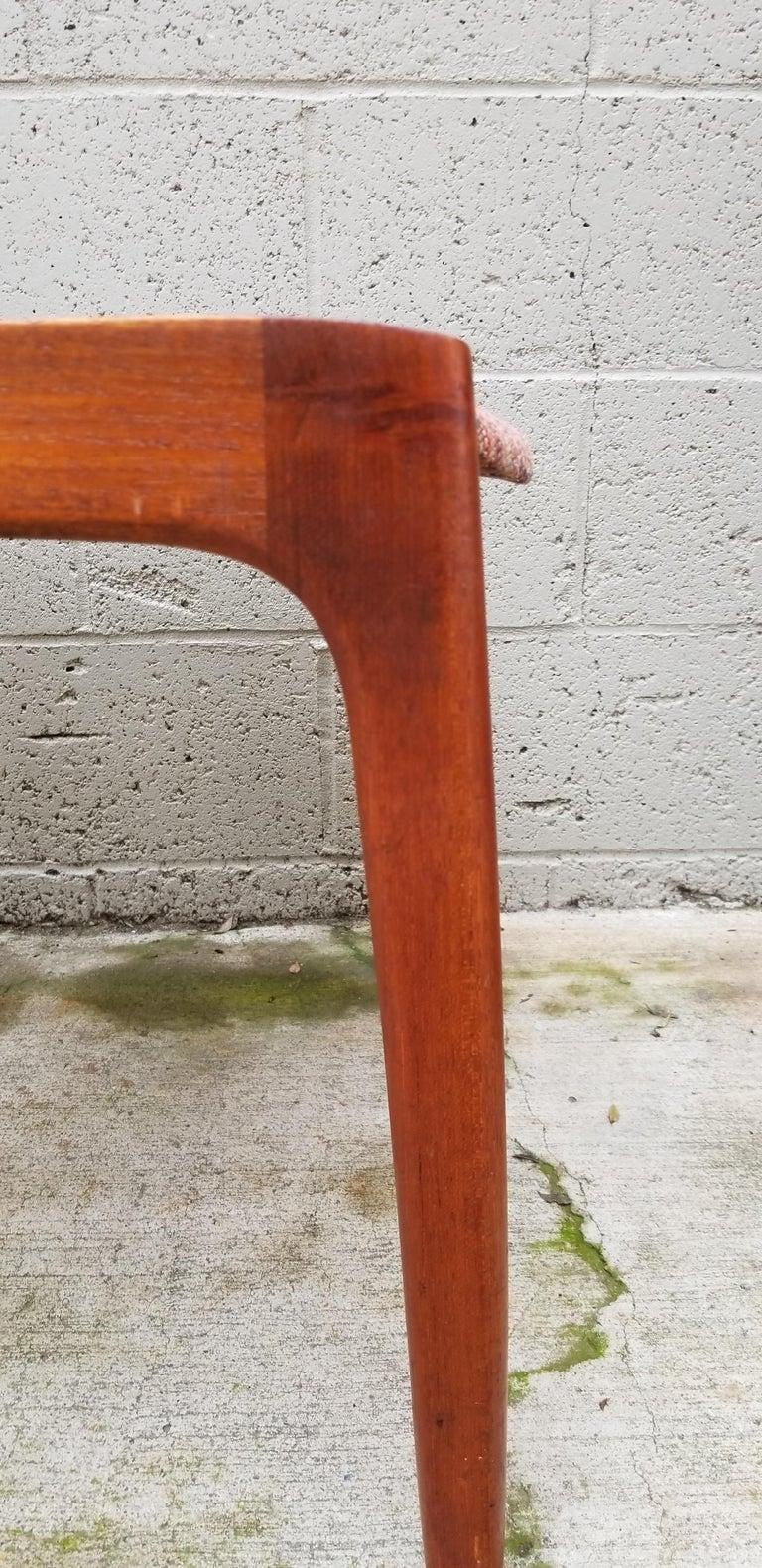 Wilhelm Volkert for Poul Jeppesen Danish Modern Dining Chairs, Set of 6 For Sale 4