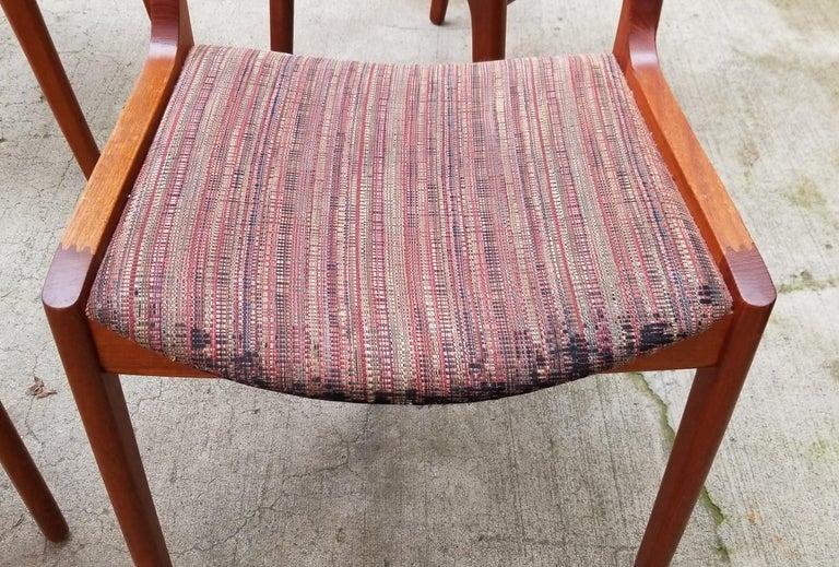 Wilhelm Volkert for Poul Jeppesen Danish Modern Dining Chairs, Set of 6 For Sale 7