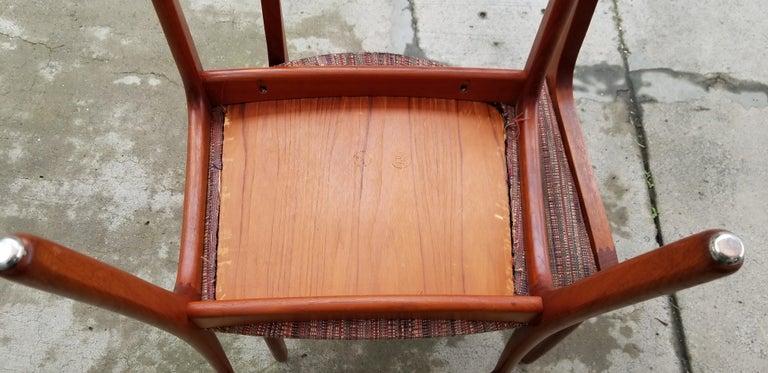 Wilhelm Volkert for Poul Jeppesen Danish Modern Dining Chairs, Set of 6 For Sale 8