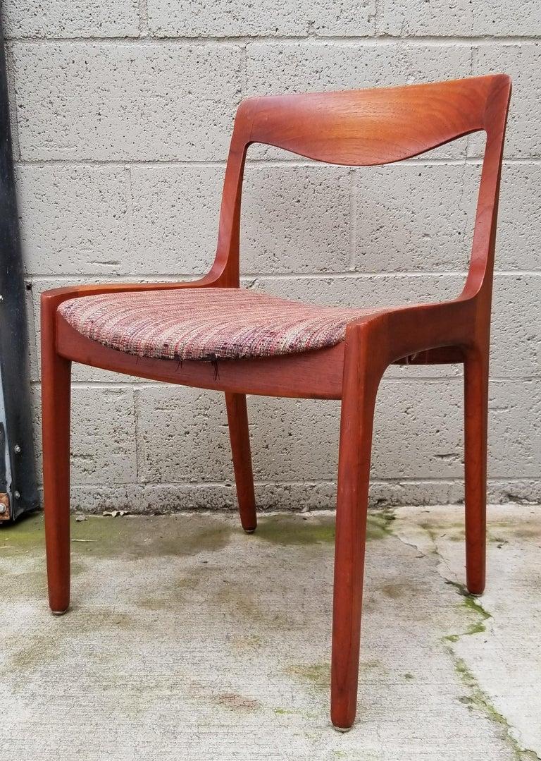 20th Century Wilhelm Volkert for Poul Jeppesen Danish Modern Dining Chairs, Set of 6 For Sale