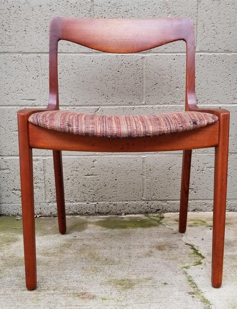 Teak Wilhelm Volkert for Poul Jeppesen Danish Modern Dining Chairs, Set of 6 For Sale